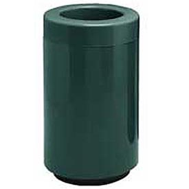Fiberglass Waste Receptacle with Open Top - 25 Gallon Capacity Green