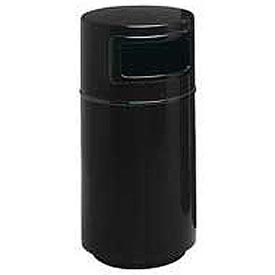 Fiberglass Trash Container with Dome Top - 32 Gallon Capacity Black