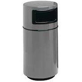 Fiberglass Trash Container with Dome Top - 32 Gallon Capacity Gray
