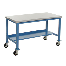 60 x 36 Plastic Safety Mobile Lab Bench