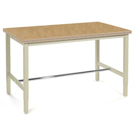 "72""W x 36""D Production Workbench - Shop Top Square Edge - Tan"