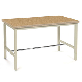 "96""W x 30""D Production Workbench - Shop Top Square Edge - Tan"