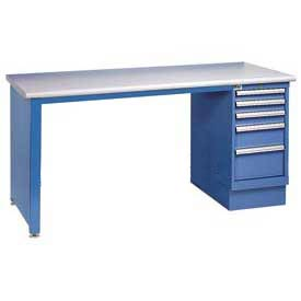 72x30 ESD Safety Edge Pedestal Workbench with 4 Drawers