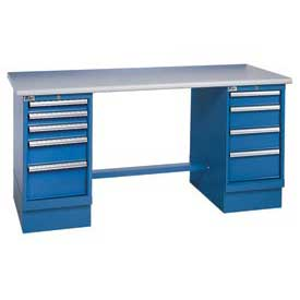 60x30 Safety Plastic Pedestal Workbench with 8 Drawers