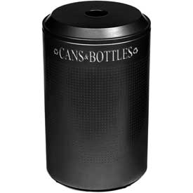 Rubbermaid® Silhouette DRR24C Recycling Receptacle w/Can & Bottle Opening, 26 Gallon - Black