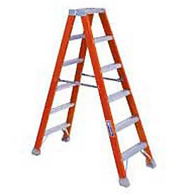 Louisville 12' Dual Access Fiberglass Step Ladder - 375 lb Cap. - FM1412HD