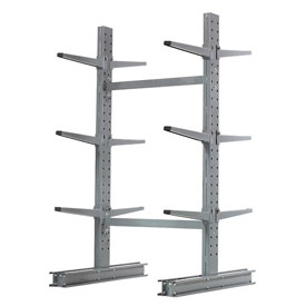 "Cantilever Rack Double Sided Starter Unit Medium Duty, 48"" W  x 54"" D x 6' H,16200 Lbs Capacity"