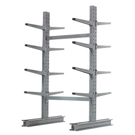 "Cantilever Rack Double Sided Starter Unit Medium Duty, 48"" W  x 54"" D x 8' H, 10600 Lbs Capacity"