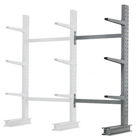 "Cantilever Rack Single Sided Add-On Unit Medium Duty, 48"" W  x 33"" D x 6' H, 8100 Lbs Capacity"