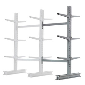 "Cantilever Rack Double Sided Add-On Unit Medium Duty, 48"" W  x 54"" D x 6' H, 16200 Lbs Capacity"