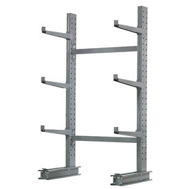 "Cantilever Rack Single Sided Starter Unit Medium Duty, 48"" W  x 33"" D x 6'H, 8100 Lbs Capacity"