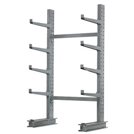 "Cantilever Rack Single Sided, Starter Unit Medium Duty, 48"" W  x 33"" D 8' H, 5300 Lbs Capacity"