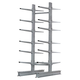 "Cantilever Rack Double Sided Starter Unit Heavy Duty, 72"" W  x 107"" D x 12' H, 17000 Lbs Capacity"