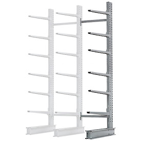 "Cantilever Rack Single Sided Add-On Unit Heavy Duty, 72"" W  x 52"" D  x 12' H, 8500 Lbs Capacity"