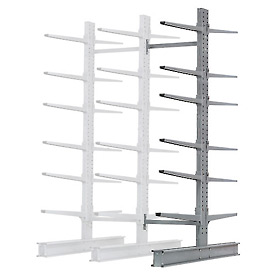 "Cantilever Rack Double Sided Add-On Unit Heavy Duty, 72"" W  x 107"" D x 12' H,17000 Lbs Capacity"