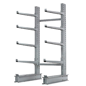 "Cantilever Rack Single Sided Starter Unit Heavy Duty, 48"" W  x 38"" D x 8'H, 13300 Lbs Capacity"
