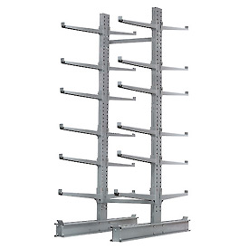 "Cantilever Rack Double Sided Starter Unit Heavy Duty, 72"" W  x 107"" D x 12' H,17000 Lbs Capacity"