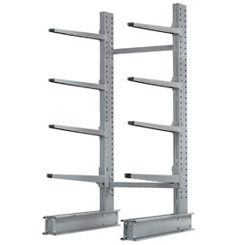 "Cantilever Rack Single Sided, Starter Unit Extra Heavy Duty, 48""W x 37""D x 8'H, 21500 Lbs. Capacity"