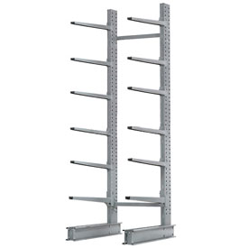 "Cantilever Rack Single Sided, Starter Unit Extra Heavy Duty, 72""W x 49""D x 10'H,15800 Lbs. Capacity"
