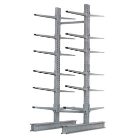 "Cantilever Rack Double Sided, Starter Unit Extra Heavy Duty, 72""Wx82""D x 10'H, 31600 Lbs. Capacity"