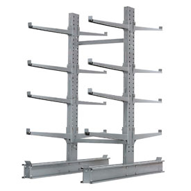 "Cantilever Rack Double Sided, Starter Unit Extra Heavy Duty, 48""W  x 65""D x 8'H, 43000 Lbs Capacity"