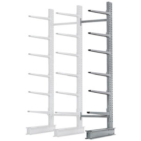 "Cantilever Rack Single Add-On Unit Extra Heavy Duty, 72"" W  x 49"" D x 10' H, 15800 Lbs Capacity"