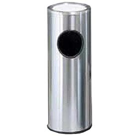 Round Sand Top Ash Trash Container Satin/Stainless