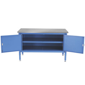 60 x 30 Security Cabinet Bench - Stainless Square Edge