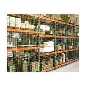 "Pallet Rack Netting Two Bay, 198""W x 96""H, 1-3/4"" Sq. Mesh, 1250 lb Rating"
