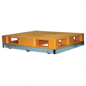 "Vestil Pallet Dolly DOL-4248-6T 48""L x 42""W 4000 Lb. Capacity with Tilt Rollers"