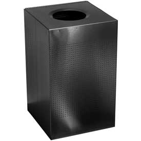 Rubbermaid® Silhouette SC22E Square Open Top Receptacle, 50 Gallon - Black