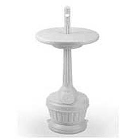 Patio Outdoor Ashtray With Table White 711606