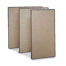 "Office Partitions - Taupe Frame Tan Fabric - 66""H x 48""W"