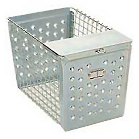 "Steel 9643 Locker Basket With Pilfer Guard 12""W"