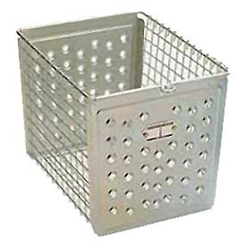 "Penco 964-1 Perforated Front Steel Basket 12""W"