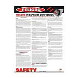 Poster, Confined Space Hazards (Spanish), 24 x 18