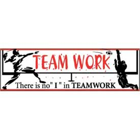 "Banner, There is no ""I"" in Teamwork 3ft x 10ft"
