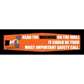 Banner, Read the Warning, 3ft x 10ft