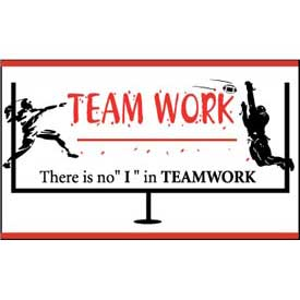 "Banner, There is no ""I"" in Teamwork, 3ft x 5ft"