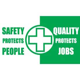 Banner, Safety Protects People Quality Protects Job, 3ft x 5ft