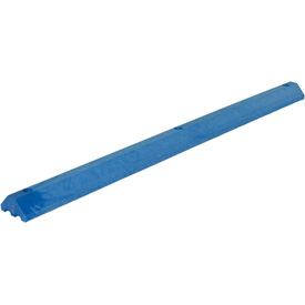 "Lightweight Recycled Plastic Car Stop, 72""L x 6""W x 3-1/4""H, Blue"