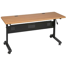"Balt® Flipper Training Table, 72"" x 24"", Teak"