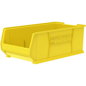 "Akro-Mils Super-Size AkroBin® 30293 - Stacking Bin 16-1/2""W x 29-7/8""D x 11""H Yellow"