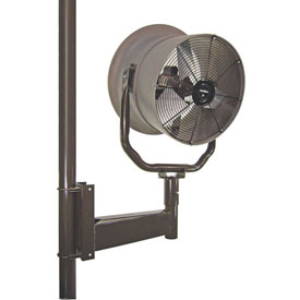 """Triangle Engineering 24"""" Oscillating Horizontal Mount Fan With Poly Housing 245545 1 HP 5900 CFM"""