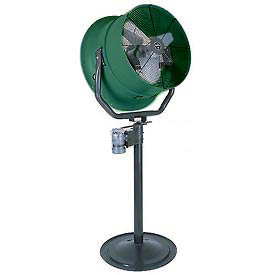 "Triangle Engineering 30"" Oscillating Pedestal Fan With Poly Housing 245562 1/2 HP 7900 CFM"