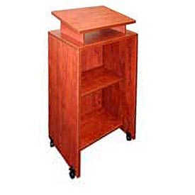 Mobile Podium / Lectern in Cherry Finish
