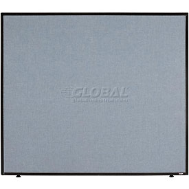 "Office Partition Panel, 48-1/4""W x 42""H, Blue"