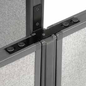 "Interion™ Low-High 3 Way For Two 60"" Low Panel"