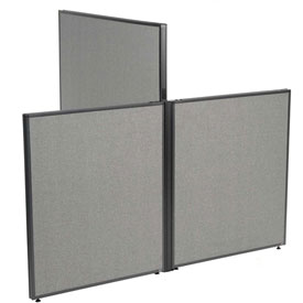 "Interion™ Low-High 3 Way For Two 42"" Low Panel"
