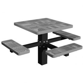 "46"" Single Post Square Picnic Table (ADA) Perforated Metal"